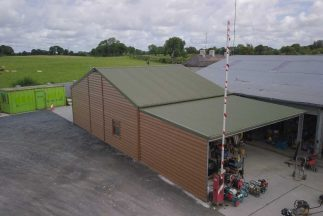 SkyClad Corrugated Cladding on a Company Roof