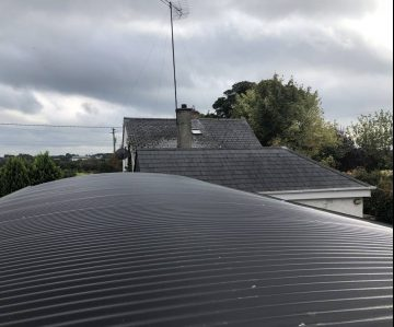 and Curved Corrugated Sheeting on Roof