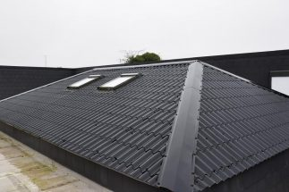 SkyClad Ltd Ireland Tile Effect Roofing with Windows