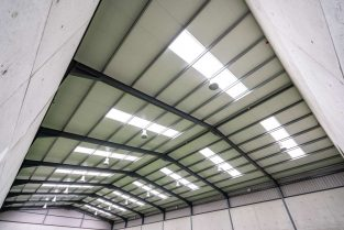 SkyClad Polycarbonate Roof Lights in a Sports Hall