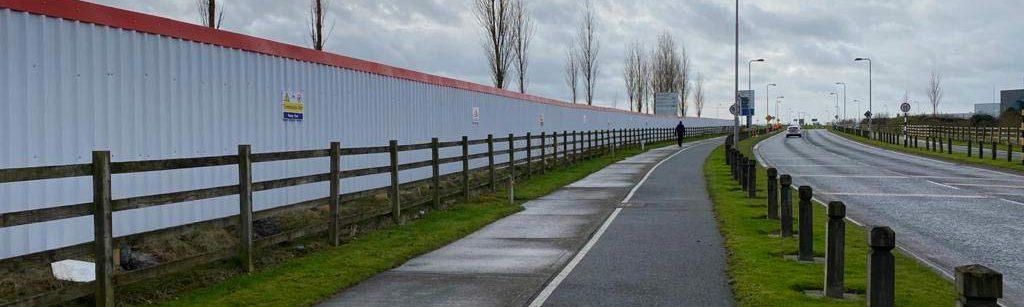 SkyClad Hoarding Galvanised Steel Solid Fencing