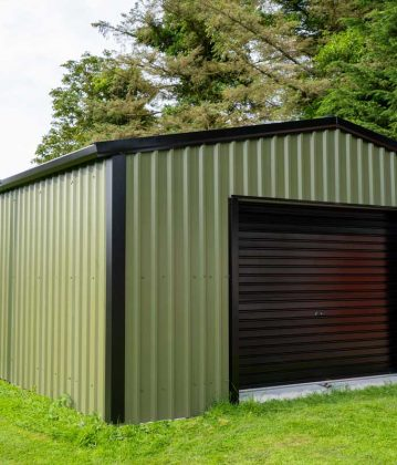 SkyClad Ltd Ireland Garden Shed Cladding Box Profile Steel Frame Building