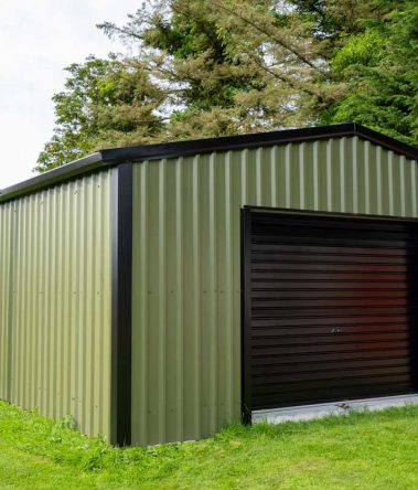 SkyClad Ltd Ireland Garden Shed Cladding Box Profile Steel Frame Building