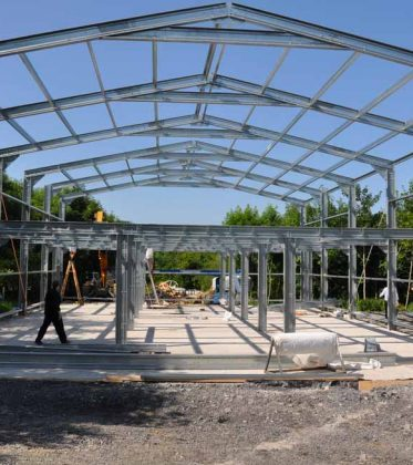 SkyClad Ltd Ireland Steel Frame Building Roll Form Purlin Bracket