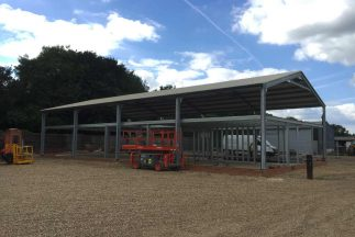 SkyClad Ltd Ireland Steel Frame Building with Roofing