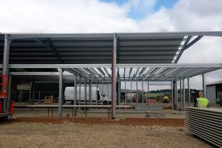SkyClad Ltd Ireland Steel Frame Buildings Side View