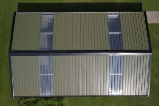 SkyClad Polycarbonate Roof Lights on a Garden Shed