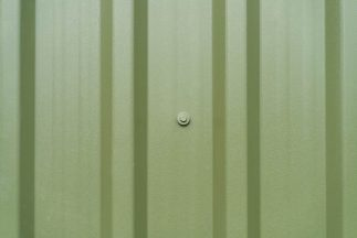 SkyClad Box Profile Roof Cladding Olive Green Garden Shed